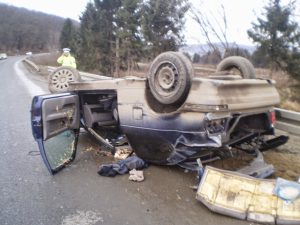 ACCIDENT INTRARE IN MEDIAS 25 IANUARIE 2015